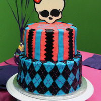 Monster High Cake This cake just about did me in! I would have loved to have used fondant, but my friend specifically wanted buttercream. Fondant accents...