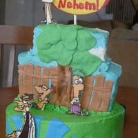 Phineas And Ferb I have been dying to do a Phineas and Ferb cake for a while since it is one of my daughter's favorite shows. My friend's son...