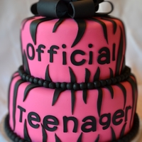 Official Teenager Cake