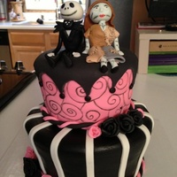 Jack Skellington And Sally Jack and Sally are made of fondant