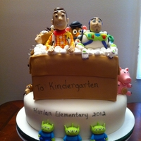 Toy Story Kindergarten Graduation Cake
