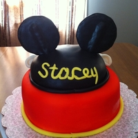 Mickey Mouse Ears Cake
