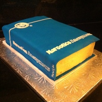 "Na Basic Text Book Cake Cake for an NA ""birthday""."