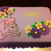 Taurus Birthday Cake This cake was for a lady who is into astrology and is a Taurus. She wanted a bull on the cake. She wanted it to be an astrological looking...