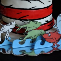"Dr. Seuss ""one Fish, Two Fish, Red Fish, Blue Fish"" Cake"