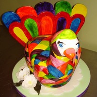Gobble Gobble body of turkey is hand-carved, head and neck is hand molded out of rice krispies, flowers are hand molded,whole turkey is hand painted,and...