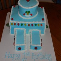 Robot Cake Was as big as the birthday boy! This cake was challenging for me to do in buttercream