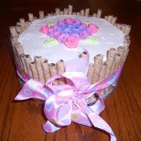 Cookie Straw Cake