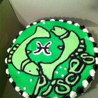 Pisces Birthday Cake