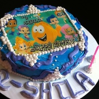 Bubble Guppie Cake my daughters 2nd birthday and her favorite show