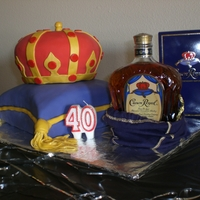 Crown Royal Cake  I should give credit to MoonRohl for the inspiration in making this cake. I knew what I wanted, but wasn't sure about it until I saw...