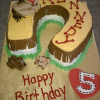 Horse Birthday Cake   My neice wanted puppies and horses on her birthday cake. She was thrilled with it.