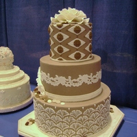 Taupe Wedding Cake