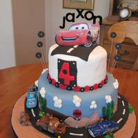 Cars Birthday My first CARS bday cake! Thanks to all of the CC decorators who have posted pics. I used a combination of your ideas and mine, to get the...