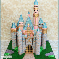 Sleeping Beautys Castle Cake Sleeping Beauty's Castle Cake