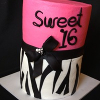 Sweet 16 Bc W Fondant Bow Accents sweet 16 bc w/ fondant bow accents