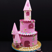 "For Anabela 8"" - 6"" Buttercream cakes with buttercream and fondant details"