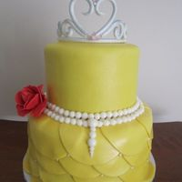 Yellow Belle Birthday Cake Gumpaste Rose Amp Tiara Fondant Pearls Amp Sugar Pearls Finish The Cake Off Isomalt Jewels Also On Tiara Yellow Belle birthday cake. Gumpaste rose & tiara. Fondant pearls & sugar pearls finish the cake off. Isomalt jewels also on tiara...