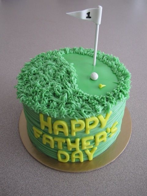 Red Velvetcream Cheese Bc Fathers Day Cake With Golf Accents Red velvet/cream cheese BC Fathers Day cake with golf accents.