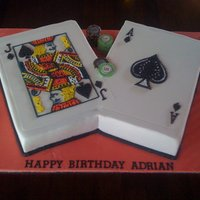 21St Black Jack Cake Black Jack cake with piping detail of cards and edible casino chips!