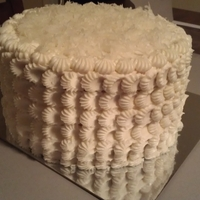 Coconut Rum Cake   Coconut cake with a coconut filling and rum buttercream