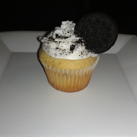Cookies And Cream Cupcake Vanilla cake with Oreo pudding filled with a cream cheese Oreo pudding and crushed Oreos, topped with Indydebi's buttercream and...