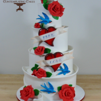 Rockabilly Wedding Cake Inspired by original design by Birmingham cake artist Ben Fullard.. aka Ben The Cake Man