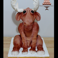 This Cake Was Rather Substantial In Size The Moose Was Ordered By A Local Ski Lodgeresort Who Organised This Cake As A Surprise For A Ski This cake was rather substantial in size! The moose was ordered by a local Ski Lodge/resort who organised this cake as a surprise for a ski...