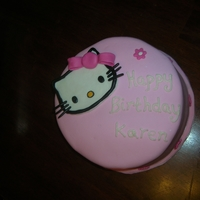 Hello Kitty Birthday Cake Fodant Hello Kitty Birthday Cake