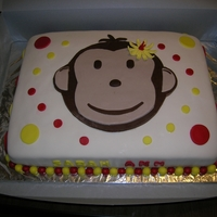 Monkey Birthday Cake Monkey Birthday Cake