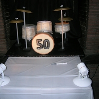 Drum Set Cake Drum set cake for 50th Birthday party