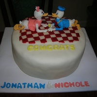 Grooms Cake Donald Duck For the Groom who loves Donald Duck