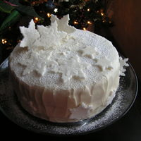 Snow Flake Celebration This was my New Year's Eve celebration cake: my grandma's recipe for Carrot/Fruit Cake with cream cheese frosting and fondant...