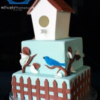 Grandma's Birdhouse Cake This is the first square cake I've ever done. I made it for my grandmother's birthday and I used some new tools for the first...