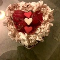 Mini Heart Shaped Black Forest