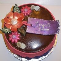 No Fondant Cake Cake made with absolutely no fondant. All decorative pieces made from Chocolate pieces and cake,