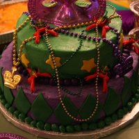 Mardi Gras Birthday Party Top-- Chocolate mint... Bottom-- Citrus... Fondant accents