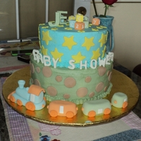 Baby Train All figurines in gumpaste,buttercream & vanilla butter cake