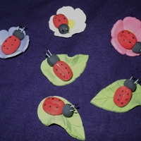 Ladubugs For Cupcakes red & black gumpaste, handmade modeling