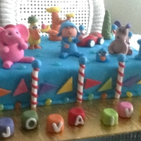 Pocoyo Handmade all figurines in gumpaste,Butter &vanilla cake with fondant.