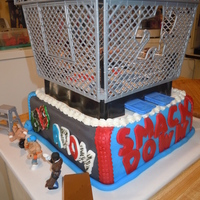 Aron's Wrestling Cake This cake was for my grandson's 10th birthday. It's covered in fondant with fondant lettering.