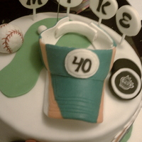 40Th Birthday Sports Theme Cake