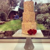 Sprinkle Cake *3 Tier sprinkle cake with fondant glittered heart.