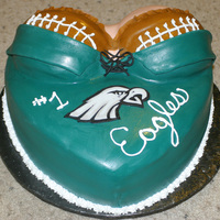 Eagles Corset/torso Birthday Cake Made this for a fellow club member at our local Eagles fan bar. His birthday was yesterday (9-11-11) so what a way to kick off football...