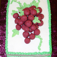 Cape Ball Wine Cluster basic sheet cake with cake balls to make a cluster of grapes for a wine party.
