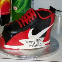 Nike Shoe Cake my first 3D cake!