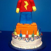 Lego Man Cake for my son. First attempt at RKT sculpting
