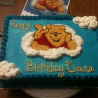 Winnie The Pooh White cake from scratch with cream cheese filling