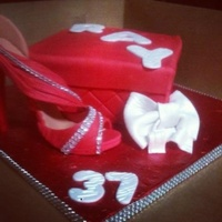 High Heel Shoe Box Cake   High Heel Shoe Box Cake