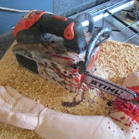 Friday The 13Th - Chain Saw Cake
